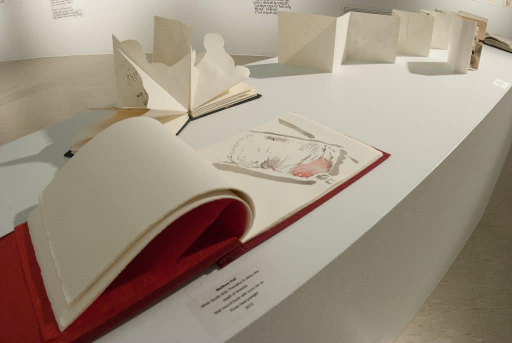 Documentation of the Exhibition: I crawled inside the book and made it my home.
