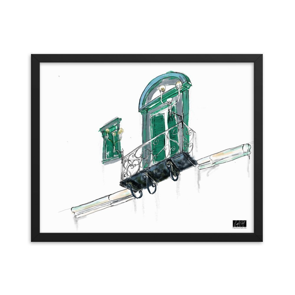 enhanced matte paper framed poster in black 16x20 transparent 604c32111535e -- Matthew Hall